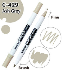 DELETER NEOPIKO-Color Ash Grey (C-429) Alcohol-based Dual Tipped Marker