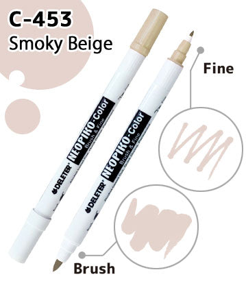 DELETER NEOPIKO-Color Smoky Beige (C-453) Alcohol-based Dual Tipped Marker