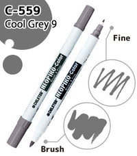 DELETER NEOPIKO-Color Cool Grey 9 (C-559) Alcohol-based Dual Tipped Marker