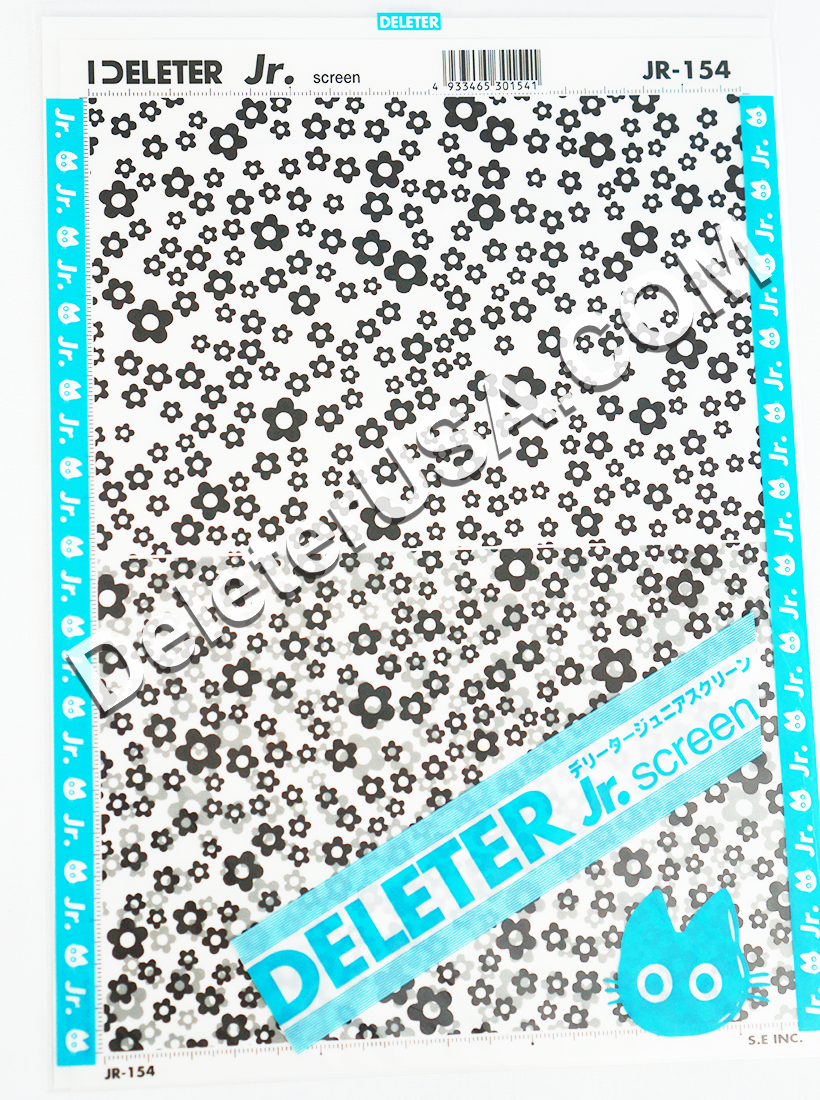 DELETER Jr. Screentone - 182 x 253mm - JR-154 (Round Flower Pattern)