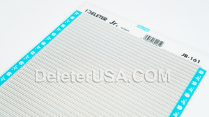 DELETER Jr. Screentone - 182 x 253mm - JR-161 (Horizontal Backslash Lines Pattern)