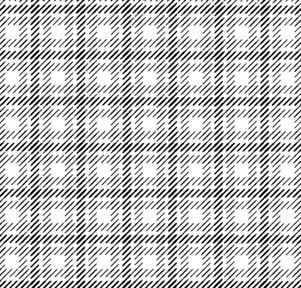 DELETER Jr. Screentone - 182 x 253mm - JR-163 (Double Plaid Forward Slash Pattern)