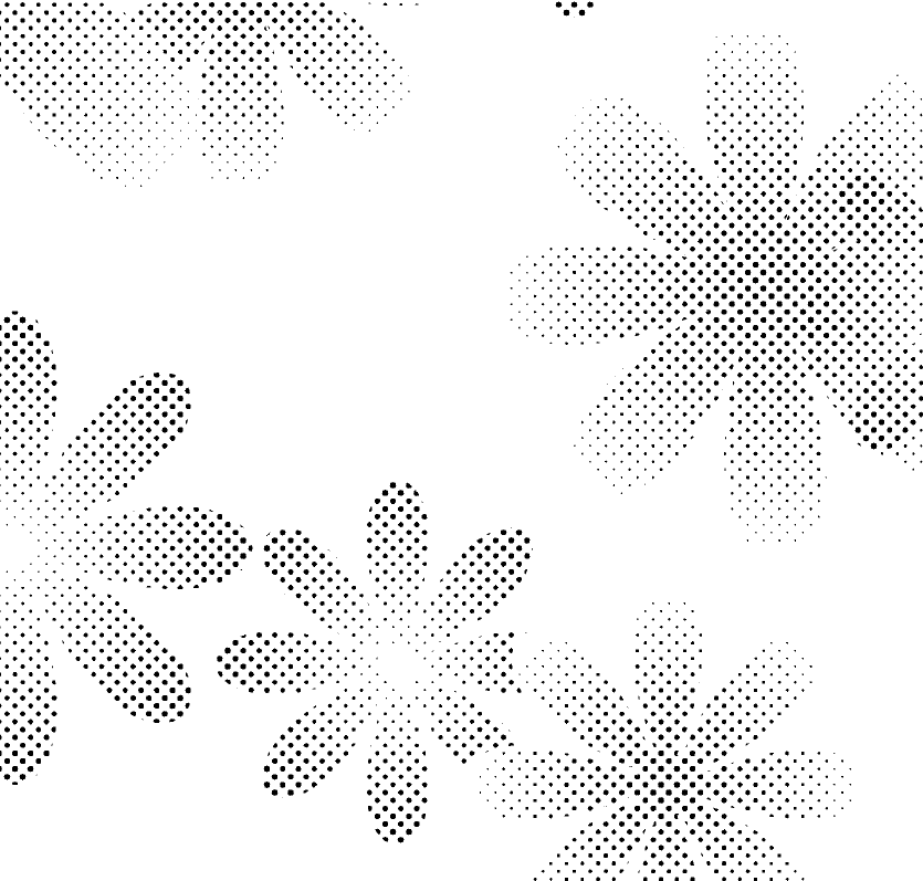 DELETER Jr. Screentone - 182 x 253mm - JR-507 (Daisy Pattern)