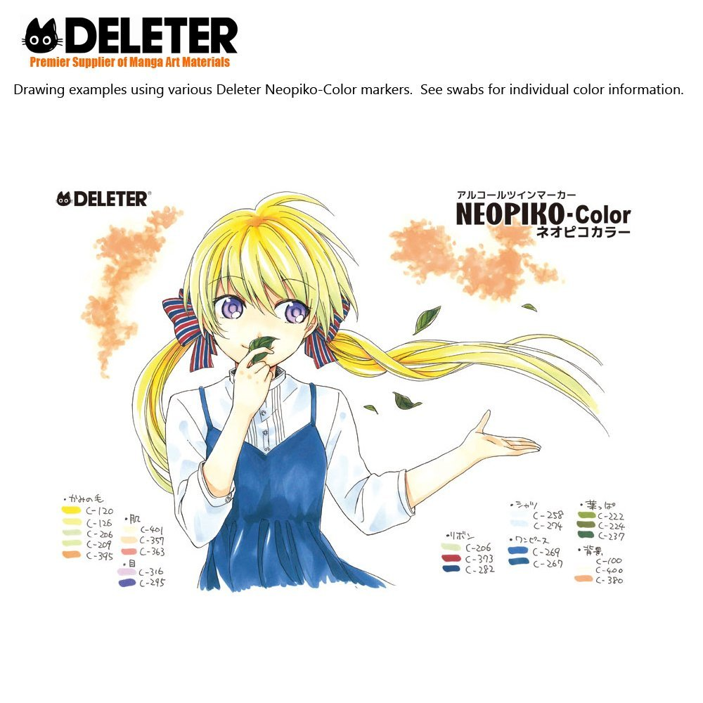 DELETER NEOPIKO-Color Peacock Blue (C-254) Alcohol-based Dual Tipped Marker