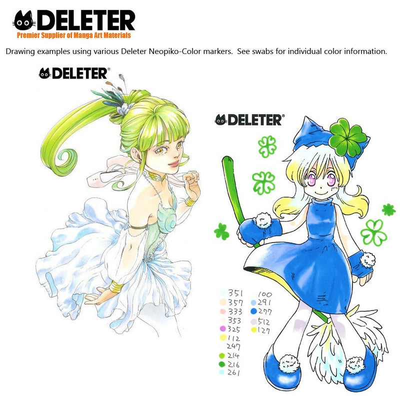 DELETER NEOPIKO-Color Cobalt Blue (C-281) Alcohol-based Dual Tipped Marker