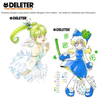 DELETER NEOPIKO-Color Green Set Alcohol-based Dual Tipped Marker