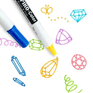 DELETER NEOPIKO-Color Vivid Yellow (C-387) Alcohol-based Dual Tipped Marker