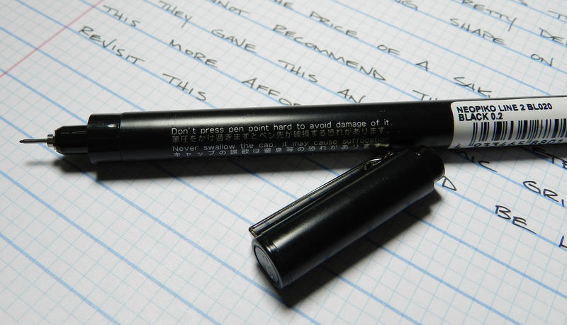 DELETER Neopiko Line 2 Multi-liner Pen - 0.2 mm - Black Ink