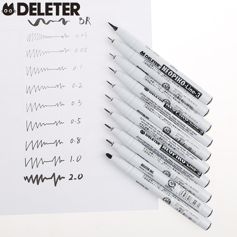DELETER Neopiko-Line 3 - 0.2mm Multi-Liner Pen (Black)