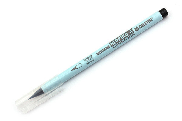 DELETER Neopiko-4 Watercolor Brush Pen - Black (W-012)