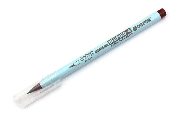 DELETER Neopiko-4 Watercolor Brush Pen - Dark Brown (W-018)