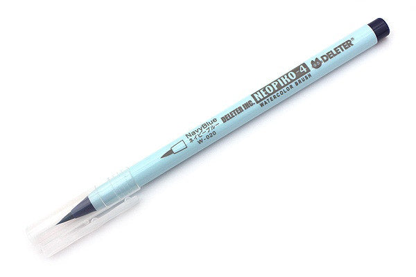 DELETER Neopiko-4 Watercolor Brush Pen - Navy Blue (W-020)