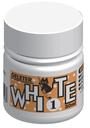 DELETER White 1 Manga Ink - Aqueous White-out - 30ml Bottle