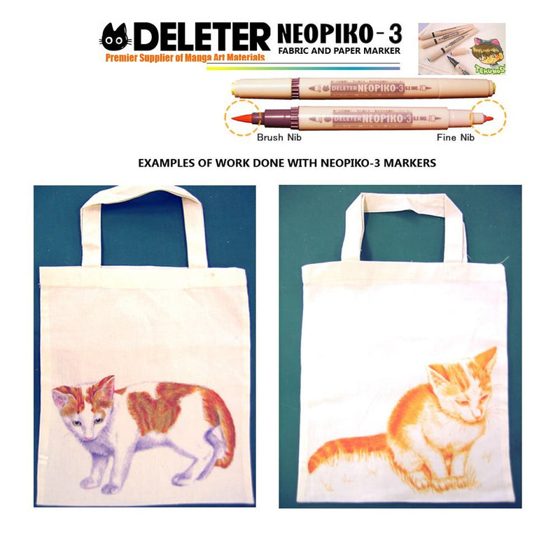 DELETER Neopiko 3 Cream (A-091) Dual-tipped Water-based Fabric Marker