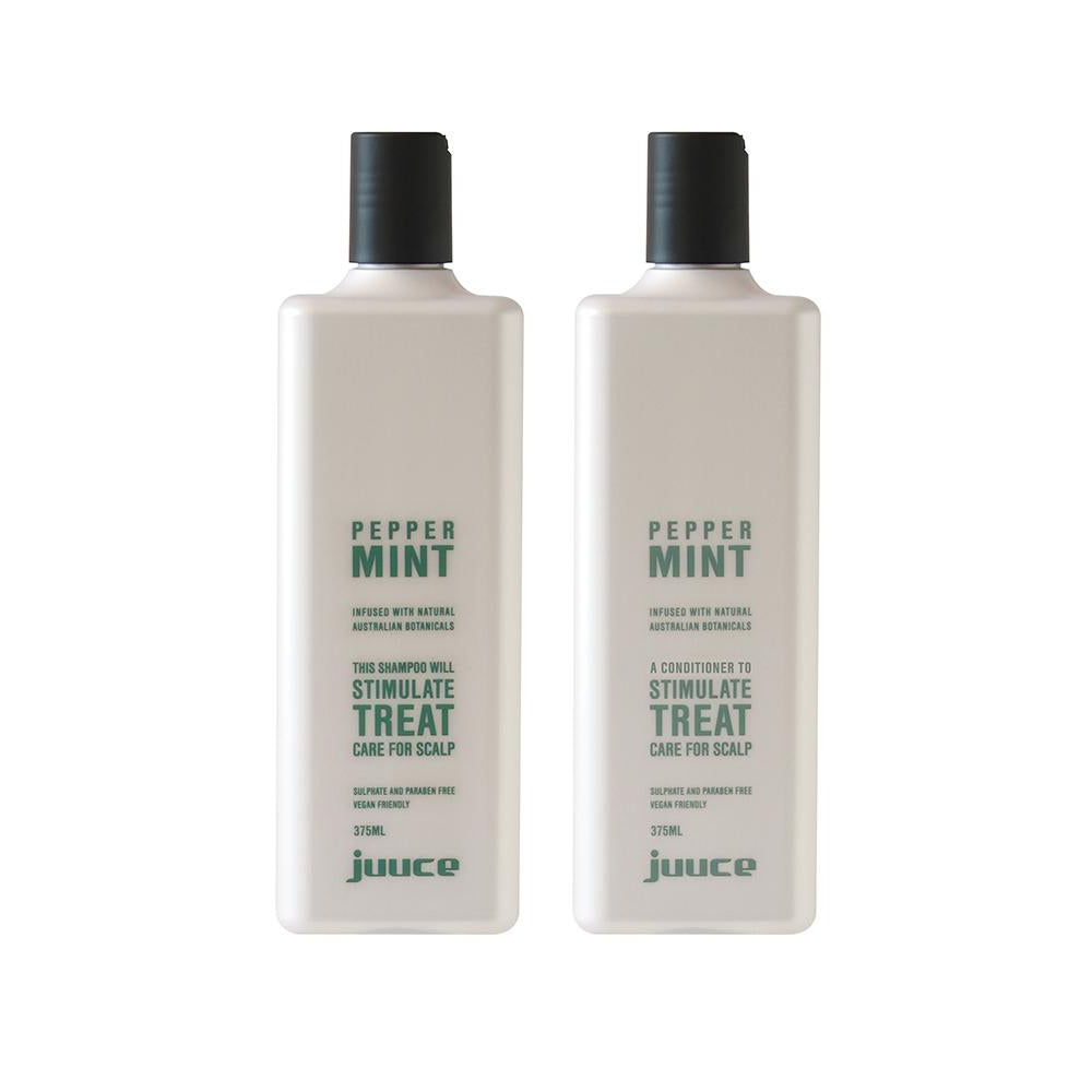 Peppermint Shampoo and Conditioner 375ml - EcoClique
