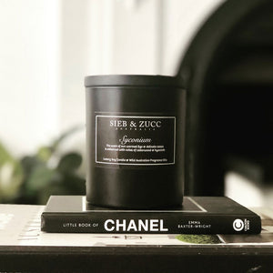 Black Deluxe Candle 400g - Citra & Sin MADE TO ORDER - EcoClique