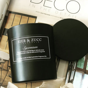 Black Deluxe Candle 400g - Coffea. PRE-ORDER - EcoClique
