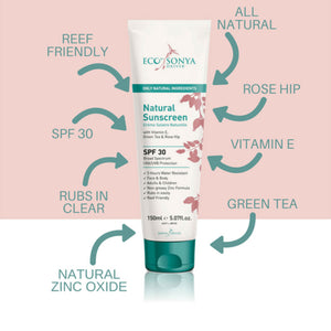 Natural Rose Hip Sunscreen 150ml - EcoClique