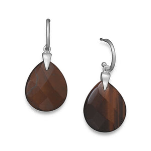 Red Tiger's Eye Earrings