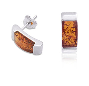 Amber Curved Mount Earrings