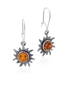Amber Small Sun Earrings