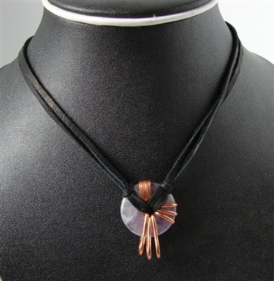 Amethyst Energy Stone Necklace