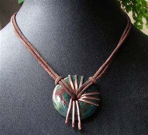 Blood Stone Energy Stone Necklace