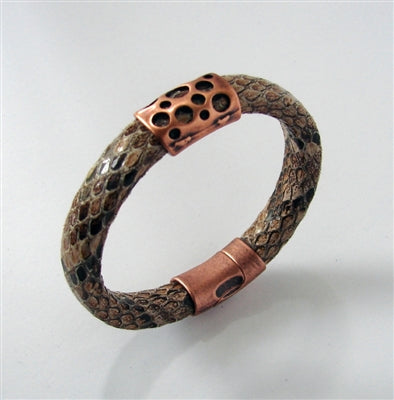 Copper Head  Leather Bracelet