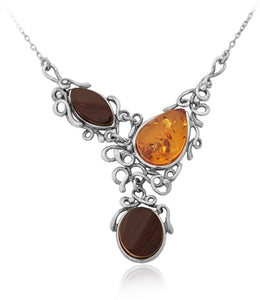 Triple Cab Amber Necklace
