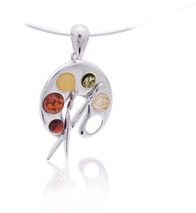 Amber Artists Palette Necklace