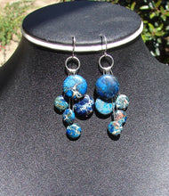 Blue Impression Jasper Cascade Earrings