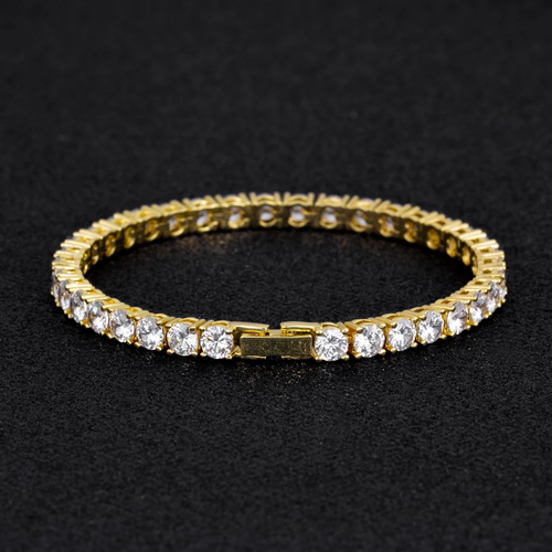 5MM 14K Oro Bracciale Tennis con Zirconi Iced Out - KRKC&CO