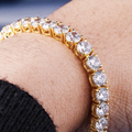 5MM 14K Oro Bracciale Tennis con Zirconi Iced Out