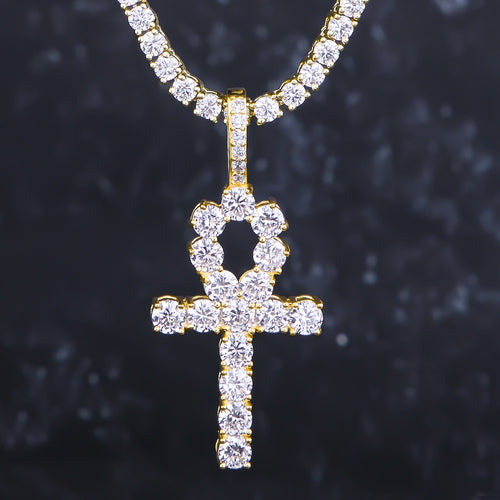 Oro Iced Out ciondolo Croce Miracolosa - KRKC&CO