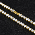 5mm Iced Out Collana Tennis in 14K Oro