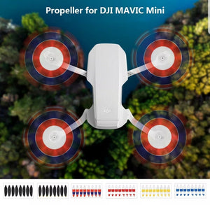 Mavic Mini Low Noise Propellers 8pcs - White, Blue and Red