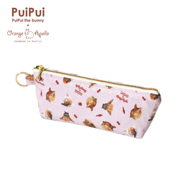 PuiPui × Orange Apollo Zipper Pencil or Pen Pouch
