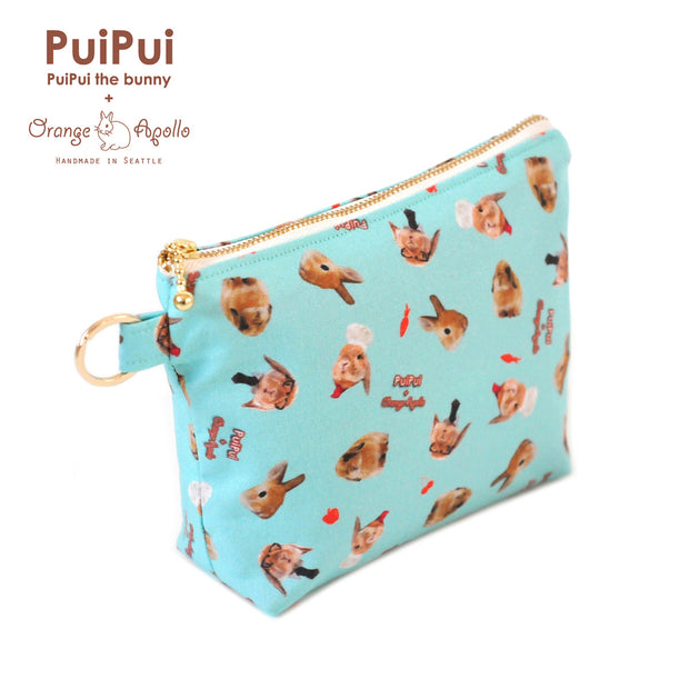 PuiPui × Orange Apollo Flat Bottom Zipper Pouch