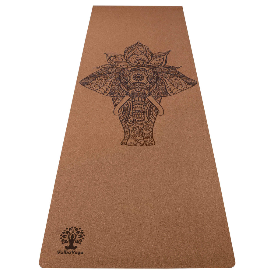 NZ yoga mats with Elephant Mandala