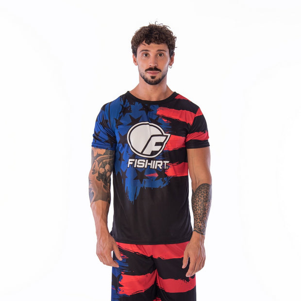 T-shirt Sport USA Paint