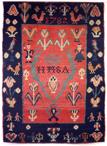 Hand knotted and tufted rug