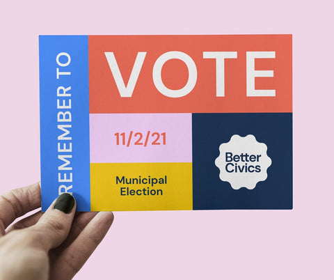 remember to vote hand out by melissa mcfeeters and lucy price rebranding tuft the world