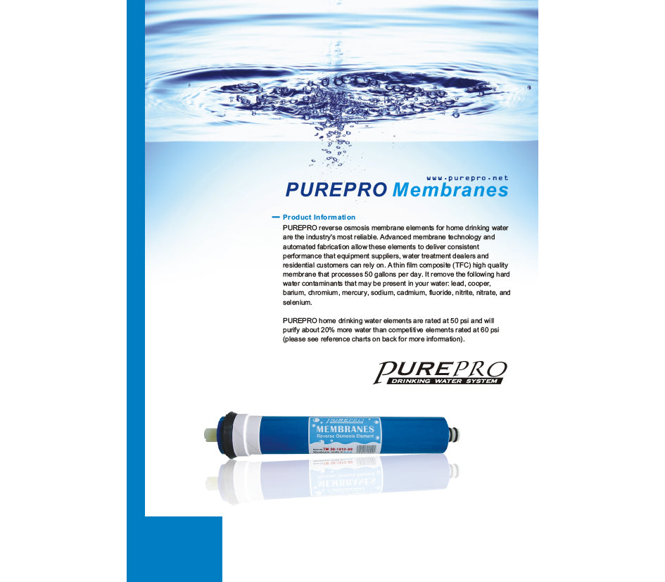 Pure-pro-membrane-specifications