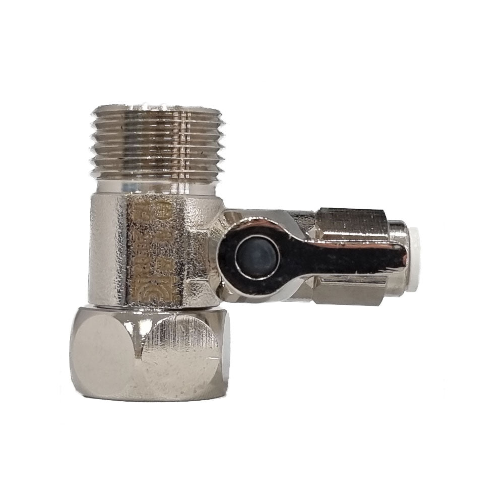 1/2″ Feed In Valve Male & Female - 1/4″ Push Fit (Quick Connect)