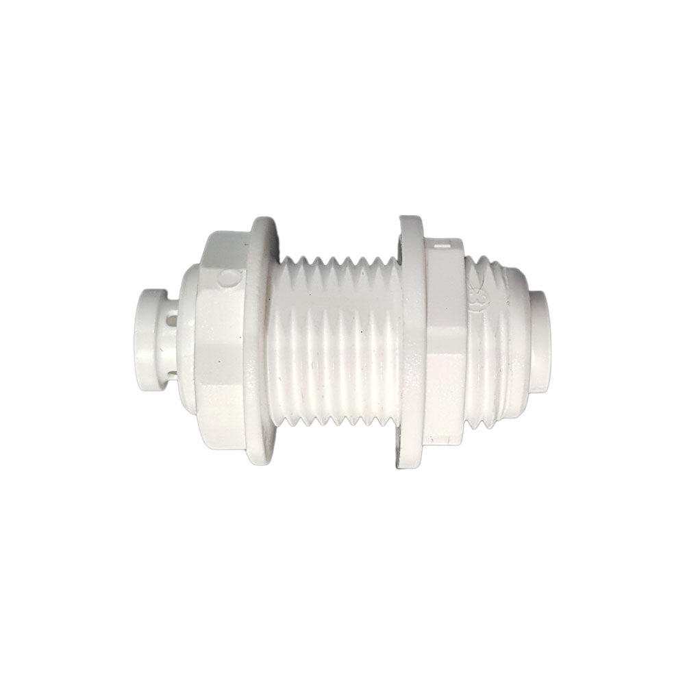 "1/4"" x 1/4"" Push Fit Bulk Head Connector"