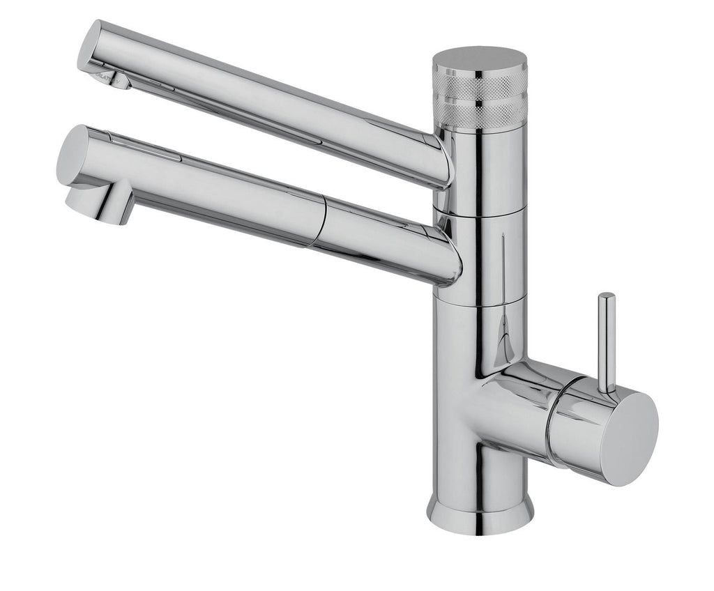 Hommix Sicilia Chrome Pull-Out Spray-Hose 3-Way Tap (Triflow Filter Tap)