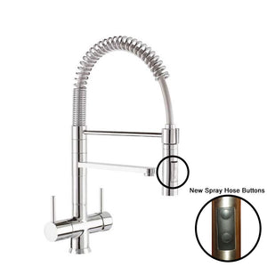 Hommix Miziana Chrome 3-Way Tap (Triflow Tap) Spring Pull Out Elegant Kitchen Filter Tap