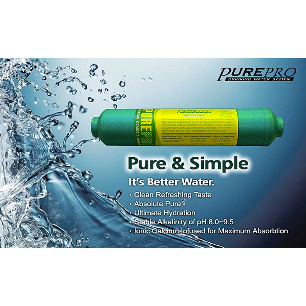 Pure-Pro Post Carbon and Alkaline Water Filter Cartridges