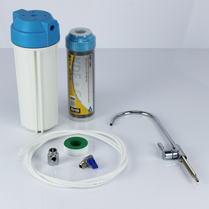 "BMB 10"" Heavy Metal & Carbon Filtration (KDF + GAC) Inline Undersink Drinking Water Filter"