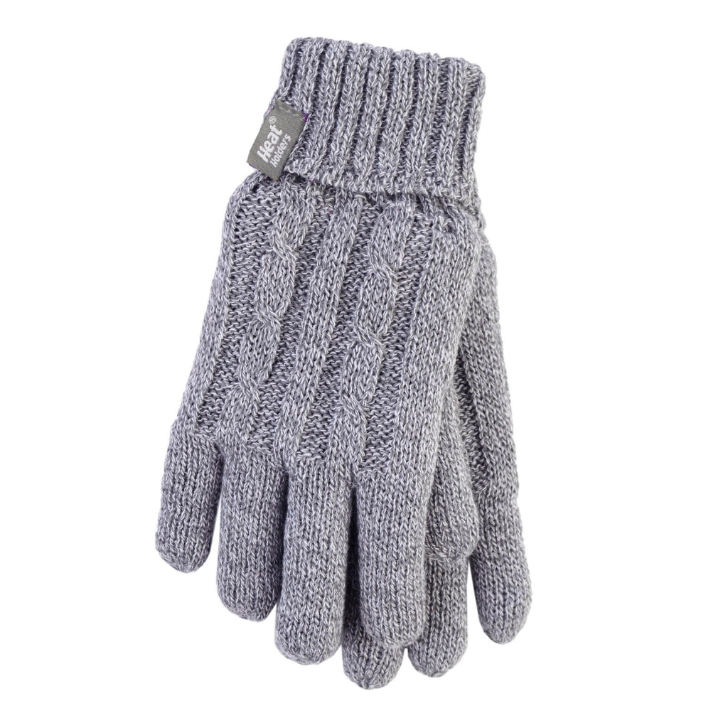 Heat Holders Women's Light Gray L/XL Gloves